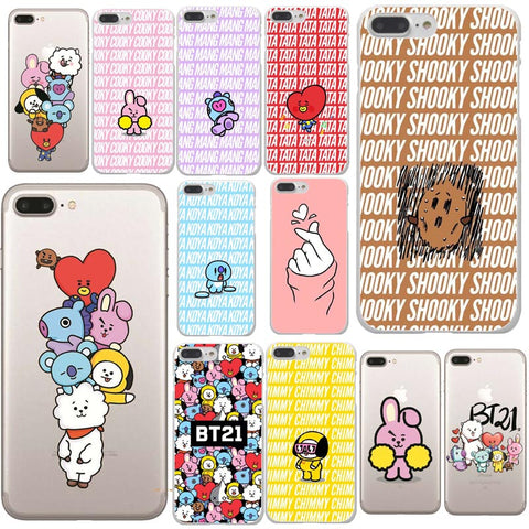 BTS Korea Bangtan Boys Young Forever BT21 Hard PC Phone Cases Cover For iPhone XS Max 5 5s SE 6 6SPlus 7 8 8Plus X R 10 Cover