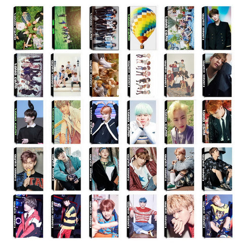 YANZIXG KPOP BTS Bangtan Boys Album Self Made Paper Lomo Card Photo Card Poster HD Photocard Fans Gift Collection