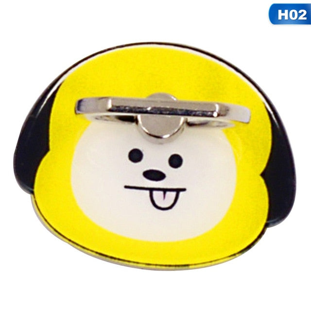 1 Pc BTS BT21 Bangtan Boys Phone Stand 360 Degree Universal Finger Rings phone Holder Ring Buckle Figure