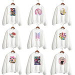 bts hoodies sweatshirt Women LOVE YOURSELF answer Tear bt21 k-pop k pop kpop DNA Hooded female hoodis Pullover FAKE LOVE
