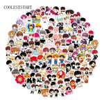100 Pcs/Set Cute Expression BTS Stickers Cartoon Handpainted Q Version Sticker For Luggage Laptop Notebook Refrigerator For Kid