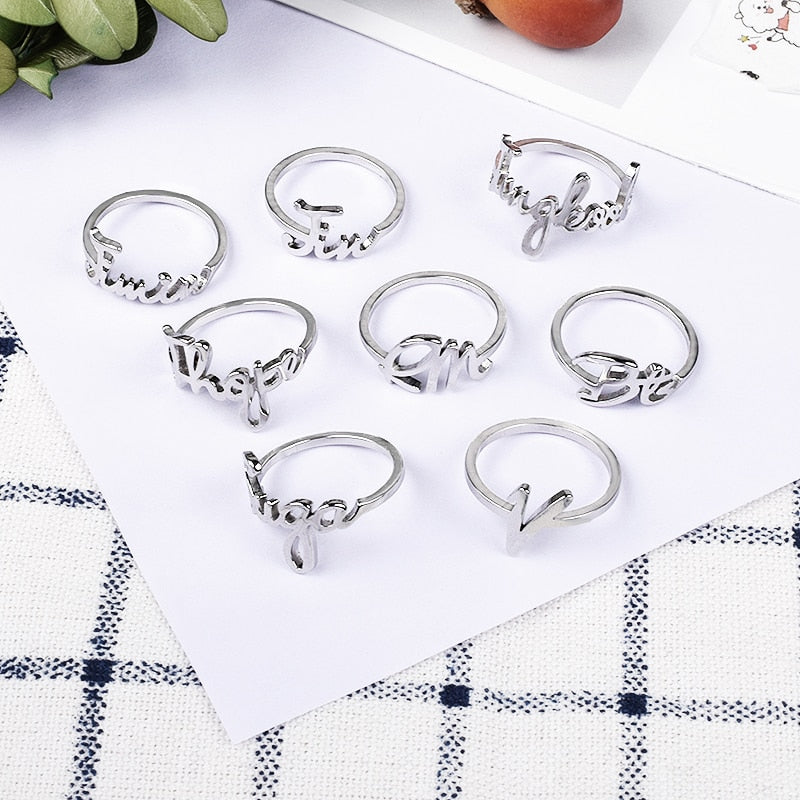 KPOP BTS Jung Kook Ring Stainless Steel Bangtan Boys Jimin V Rap Monster ARMY BTS Accesssories Fans Gift