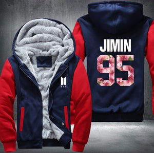USA Size BTS Kpop Baseball jacket winter hoodies men popular Bangtan Hip hop harajuku hoodies women Casual Fashion Female Jacket