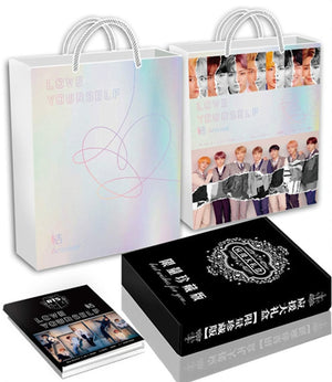 [MYKPOP]BTS ANSWER Luxury Gift Set CD+Post Card+Photo book+Bracelet+Bookmarks+Stickers+Paper Bag SA18102301