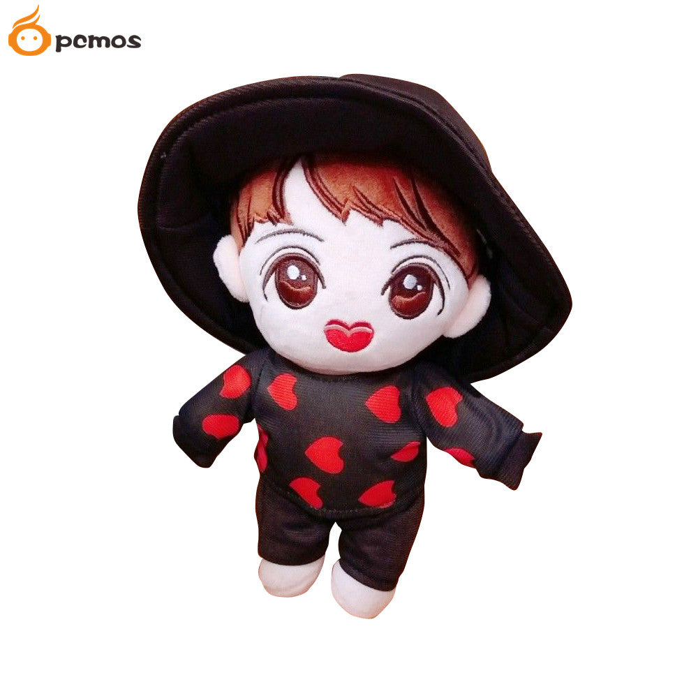 "PCMOS Kpop BTS Plush Dolls Toys Bangtan Boys J-HOPE MIC Drop 18cm/7"" Plush Toy Stuffed Doll Handmade Fans Gift Collection"