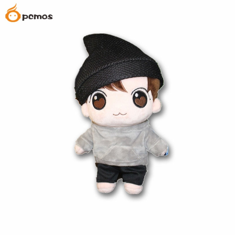 "PCMOS 22cm/8"" KPOP BTS Plush Toys JungKook Bangtan Boys Jeon KPOP Plush Toy Stuffed Doll Fan made Gift Collection 2018 Hot Kpop"
