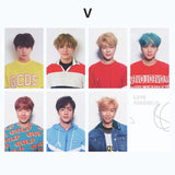 7Pcs bts sticker Lomo Card Bangtan Boys Cards New Fashion kids stickers Self Made Paper Photo Card Sticker Toys for children