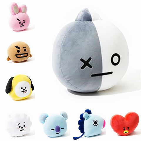 New Kpop Bangtan Boys BTS bt21 Vapp Pillow Plush Toys Warm Cushion Back Pillow Cartoon Dolls TATA VAN COOKY CHIMMY SHOOKY