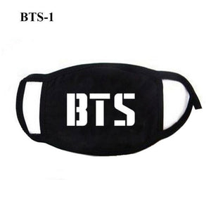 1PC Unisex Kpop BTS TWICE BLACKPINK Fans Style Mouth Mask Face Mask Respirator Anti-Dust Face Masks BTS Kpop Mask