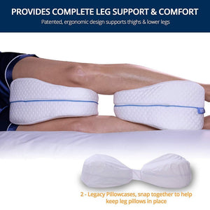 Memory Cotton Leg Pillow for Back, Hip, Legs & Knee Support