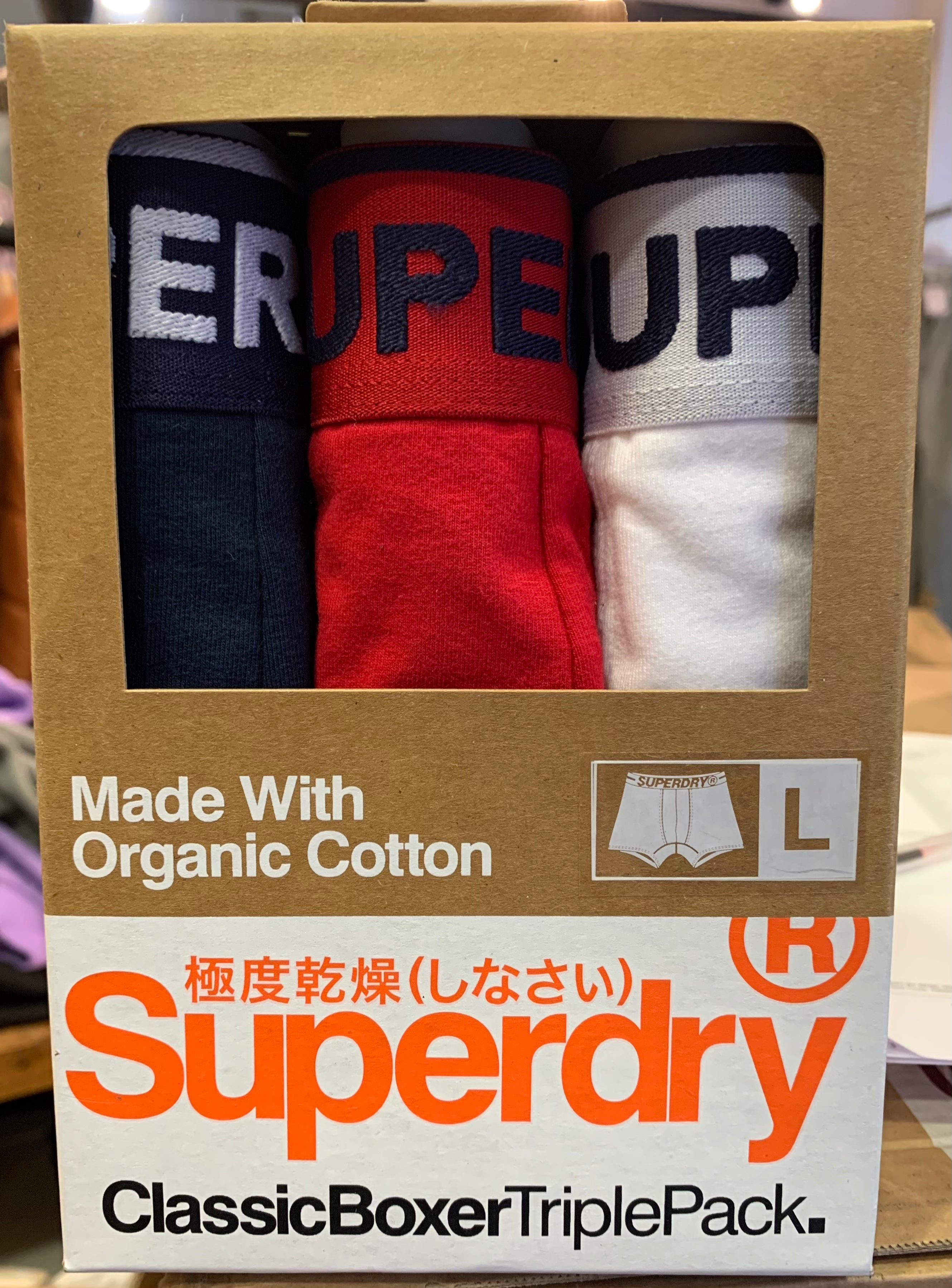 Mens Superdry Underwear 3 Pack