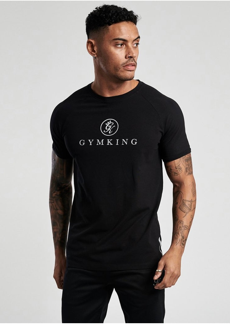 Mens Gym King Tee Black