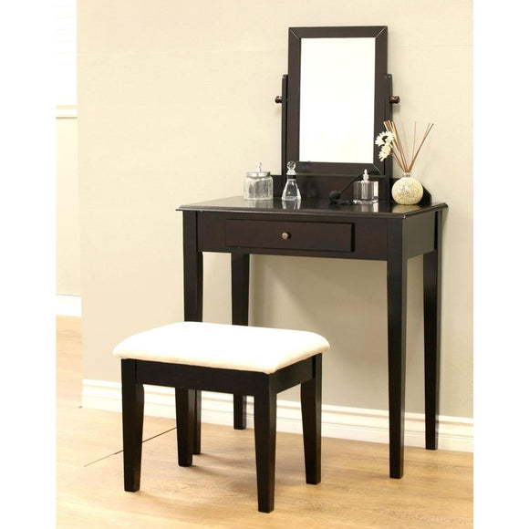 Frenchi Home Furnishing 3-Piece Expresso Vanity Set