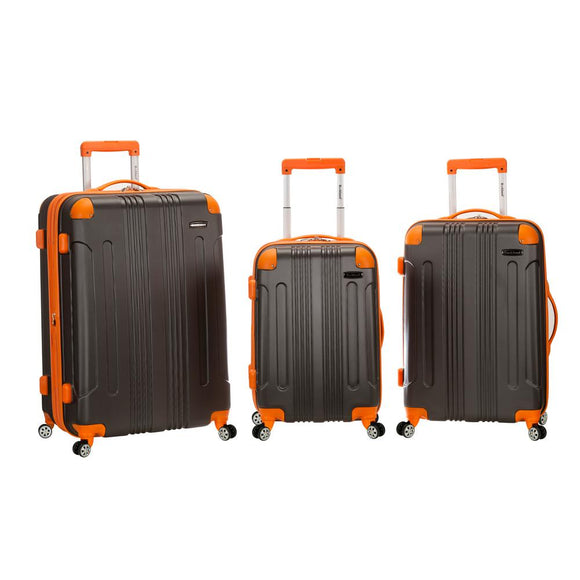 Rockland Rockland Sonic 3-Piece Hardside Spinner Luggage Set, Charcoal