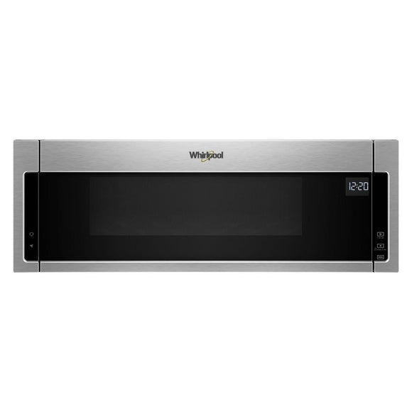 Whirlpool 1.1 cu. ft. Over the Range Low Profile Microwave Hood Combination in Stainless Steel