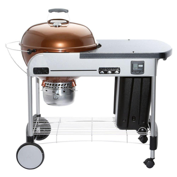 Weber 22 in. Performer Premium Charcoal Grill in Copper with Built-In Thermometer and Digital Timer