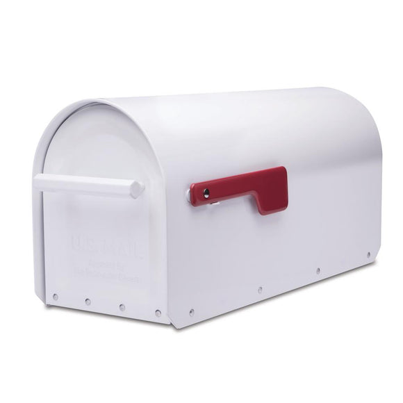 Architectural Mailboxes Sequoia White Heavy Duty Post Mount Mailbox