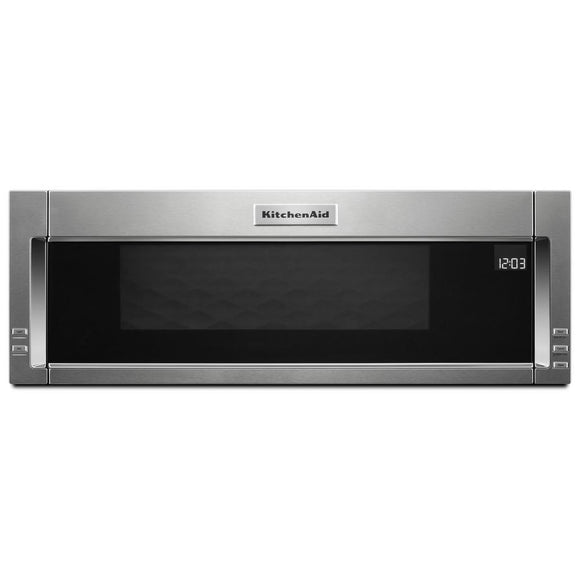 KitchenAid 1.1 cu. ft. Over the Range Low Profile Microwave Hood Combination in Stainless Steel