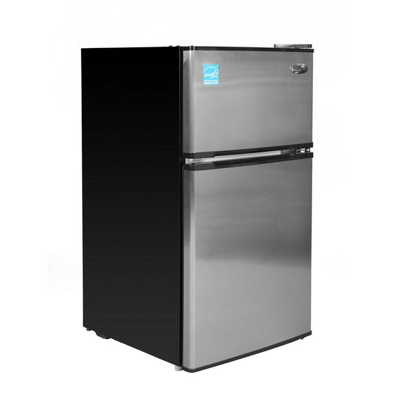 PREMIUM 3.1 cu. ft. Mini Refrigerator in Black with Stainless Steel Door