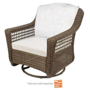 Remarkable Hampton Bay Chairs Spring Haven Grey All Weather Wicker Patio Swivel Rocker Chair With Bare Cushion Caraccident5 Cool Chair Designs And Ideas Caraccident5Info