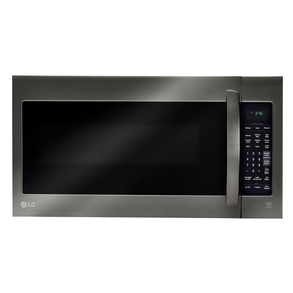 LG Electronics 2.0 cu. ft. Over the Range Microwave in Black Stainless Steel with Sensor Cook