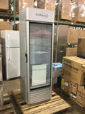 PREMIUM 12.5 cu. ft. Single Door Merchandiser Refrigerator in Gray