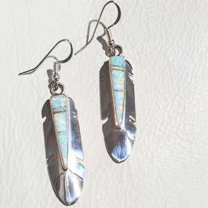 Opal Sterling Silver Zuni Feather