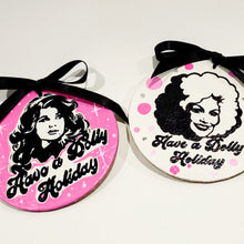 Load image into Gallery viewer, Dolly Parton Hand-Painted Leather Ornament