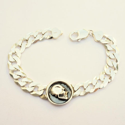 Wax Seal Skull Curb Bracelet
