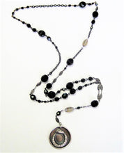 Load image into Gallery viewer, Ouroboros I Rosary Style Medallion Necklace