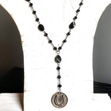 Load image into Gallery viewer, Get Lucky Rosary Style Horseshoe Necklace