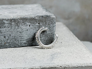 Forged Granulation Cuff | Sterling Silver - Milly Maunder Designs