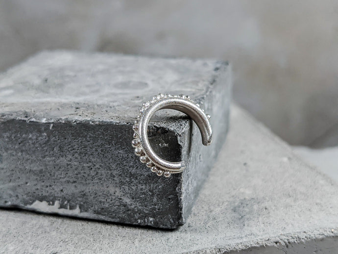 Forged Granulation Cuff | Sterling Silver