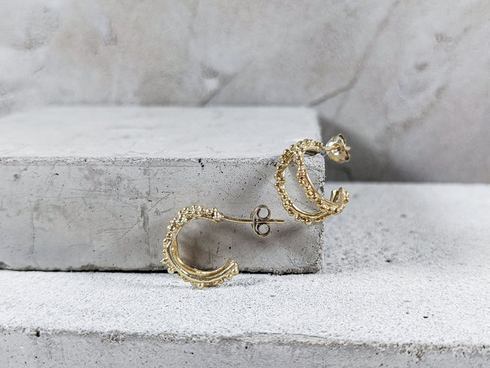 Double Halo Hoops | 18k Gold Plated - Milly Maunder Designs
