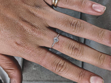 Load image into Gallery viewer, Sterling Silver & CZ stacking ring