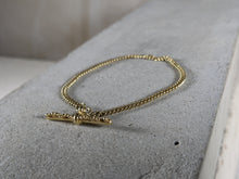 Load image into Gallery viewer, T Bar bracelet | Gold Plated - Milly Maunder Designs