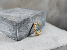 Load image into Gallery viewer, Forged Granulation Cuff | Gold Plated