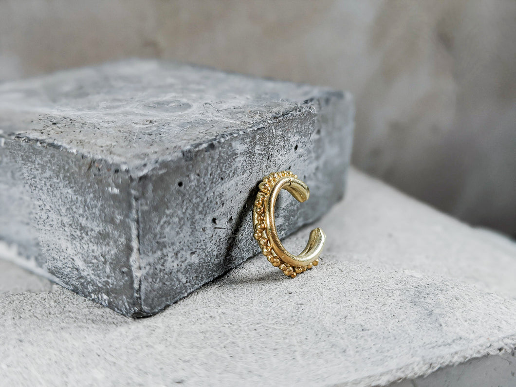 Forged Granulation Cuff | Gold Plated