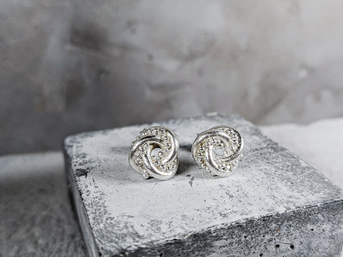 The Nodo Knot Earrings | Sterling Silver