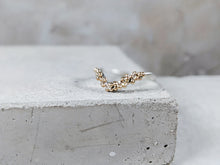 Load image into Gallery viewer, Granulation Wishbone Ring | Sterling Silver with Gold granulation - Milly Maunder Designs