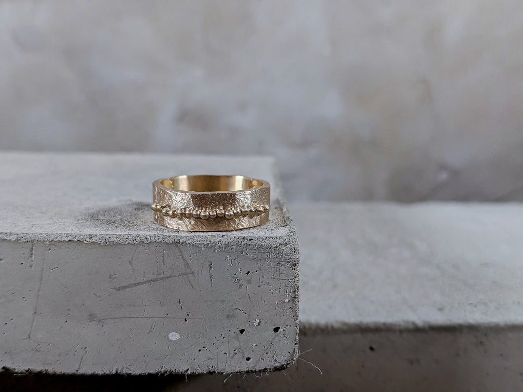 The Granulation 'Strata' Ring - Milly Maunder Designs