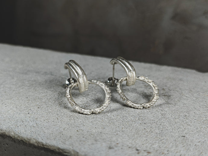 The Double Looped Hoops | Sterling Silver