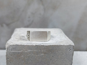 Mens Rectangular Signet Ring