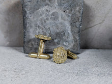 Load image into Gallery viewer, Bubble Disk Cufflinks | 18k Gold Plated