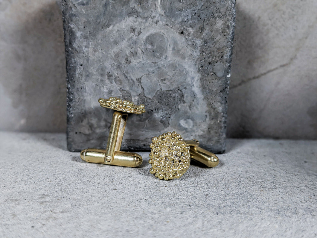 Bubble Disk Cufflinks | 18k Gold Plated