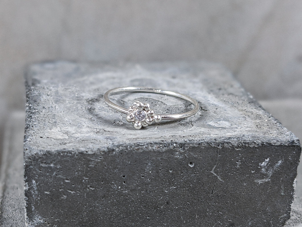 Sterling Silver & CZ stacking ring