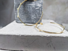 Load image into Gallery viewer, Large Bubble Hoop | 18k Gold Plated