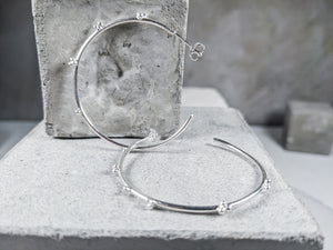 Large Bubble Hoop | Sterling Silver