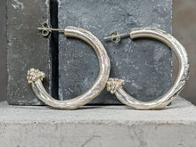 Load image into Gallery viewer, Chunky Duo Hoop | Sterling Silver