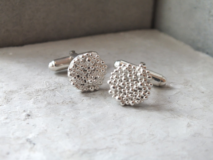 Bubble Disk Cufflinks - Milly Maunder Designs
